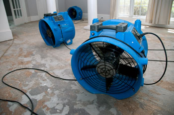 Industrial Fans Drying Water Damage